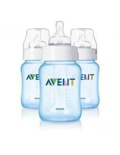 AVENT SET DE 3 BIBERONES 9 OZ - BPA FREE - EN ROSA O AZUL